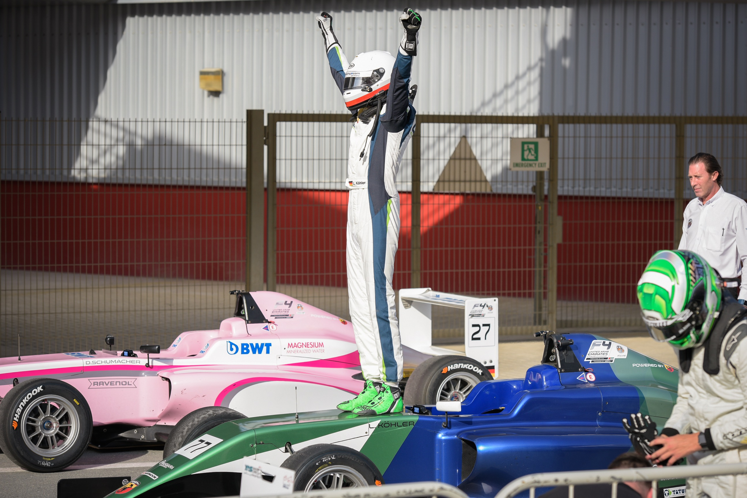SCHUMACHER AND KÖHLER BREAK THROUGH FOR MAIDEN OPEN-WHEELER RACE WINS IN F4UAE