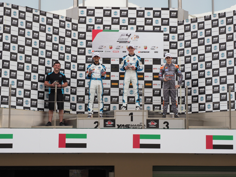 2019F4UAE Rnd4 Race 2 Podium