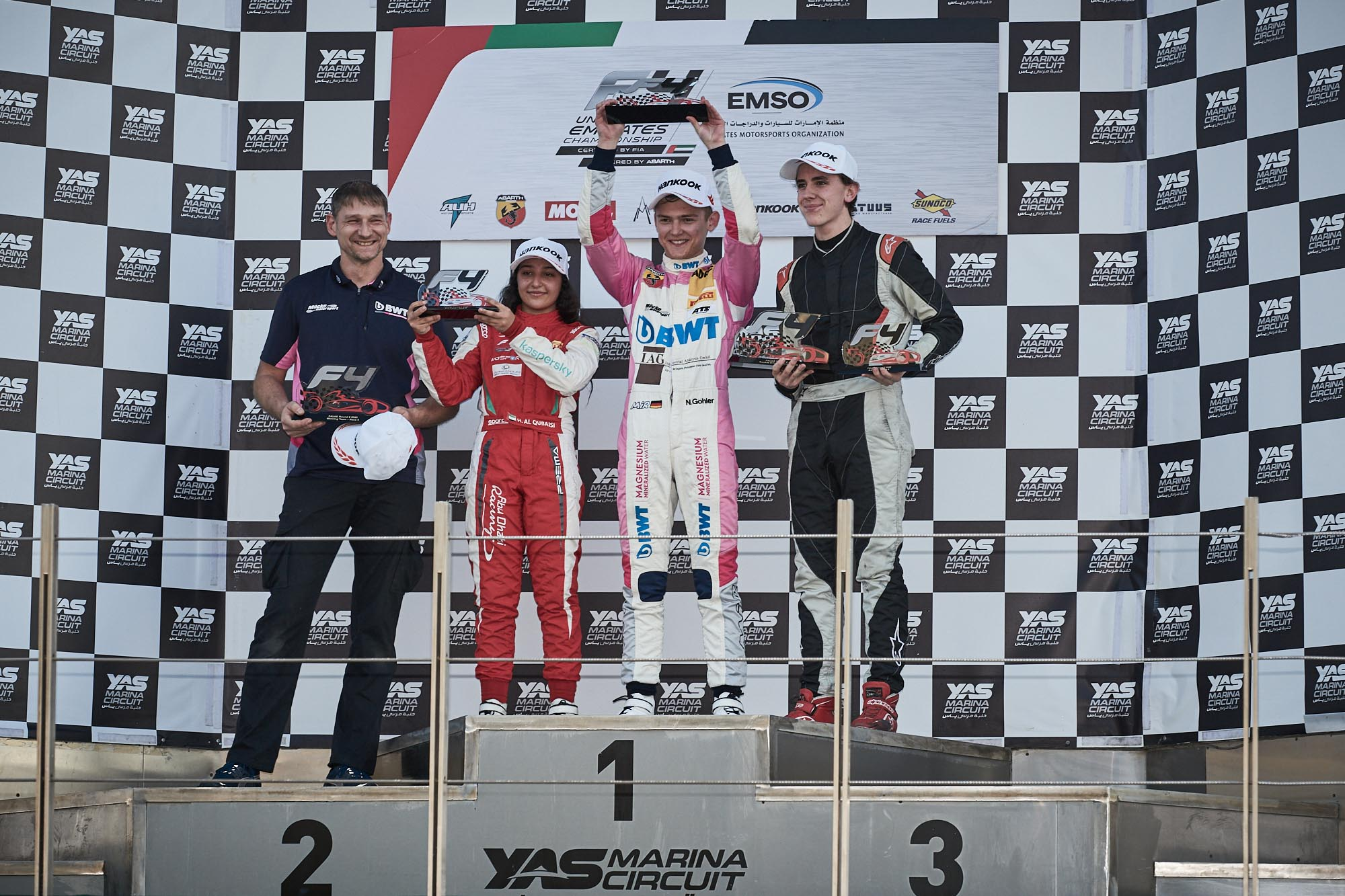 F4UAE2020 Round2 Race 4 Podium