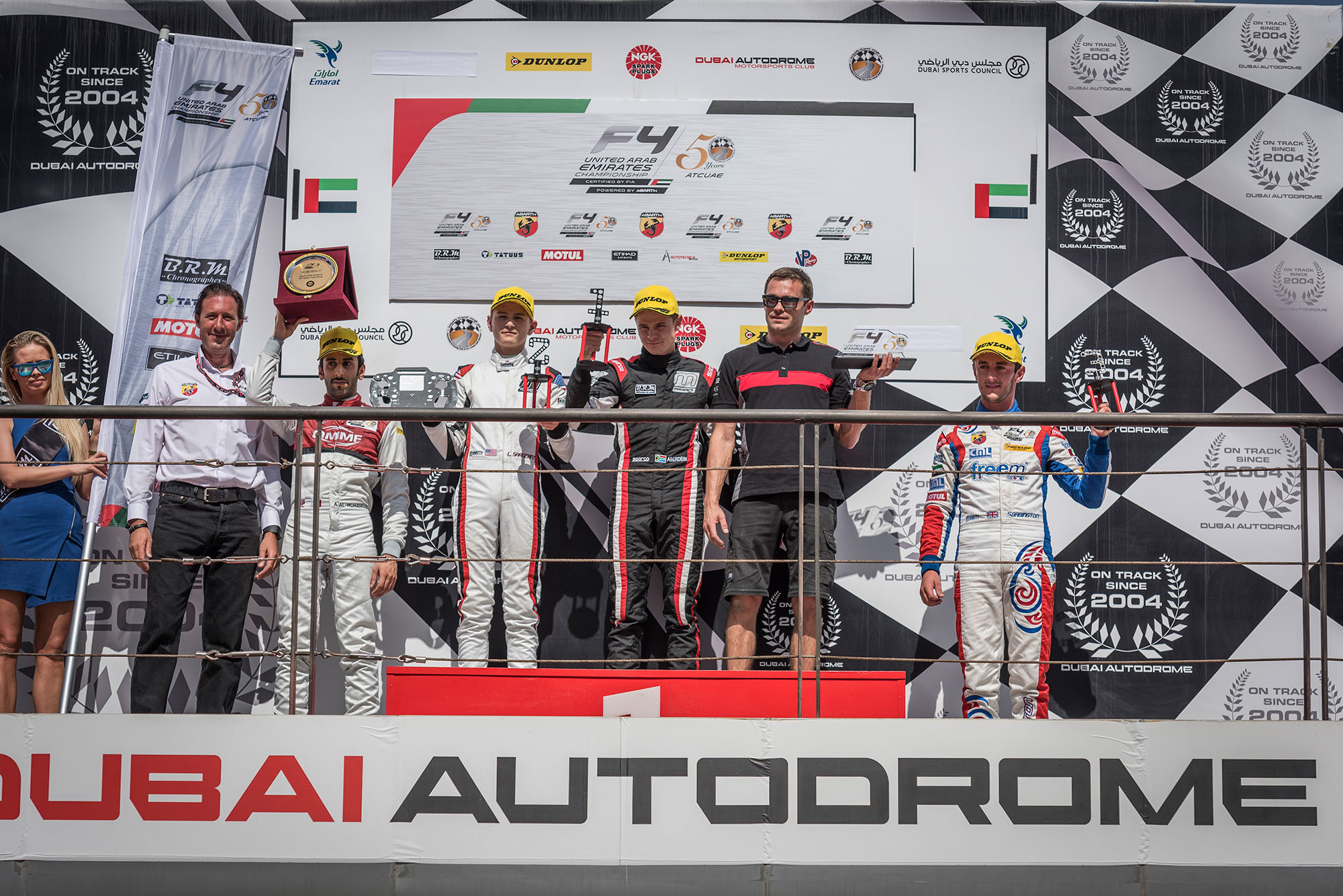 F4UAE Round3 Race 10 podium