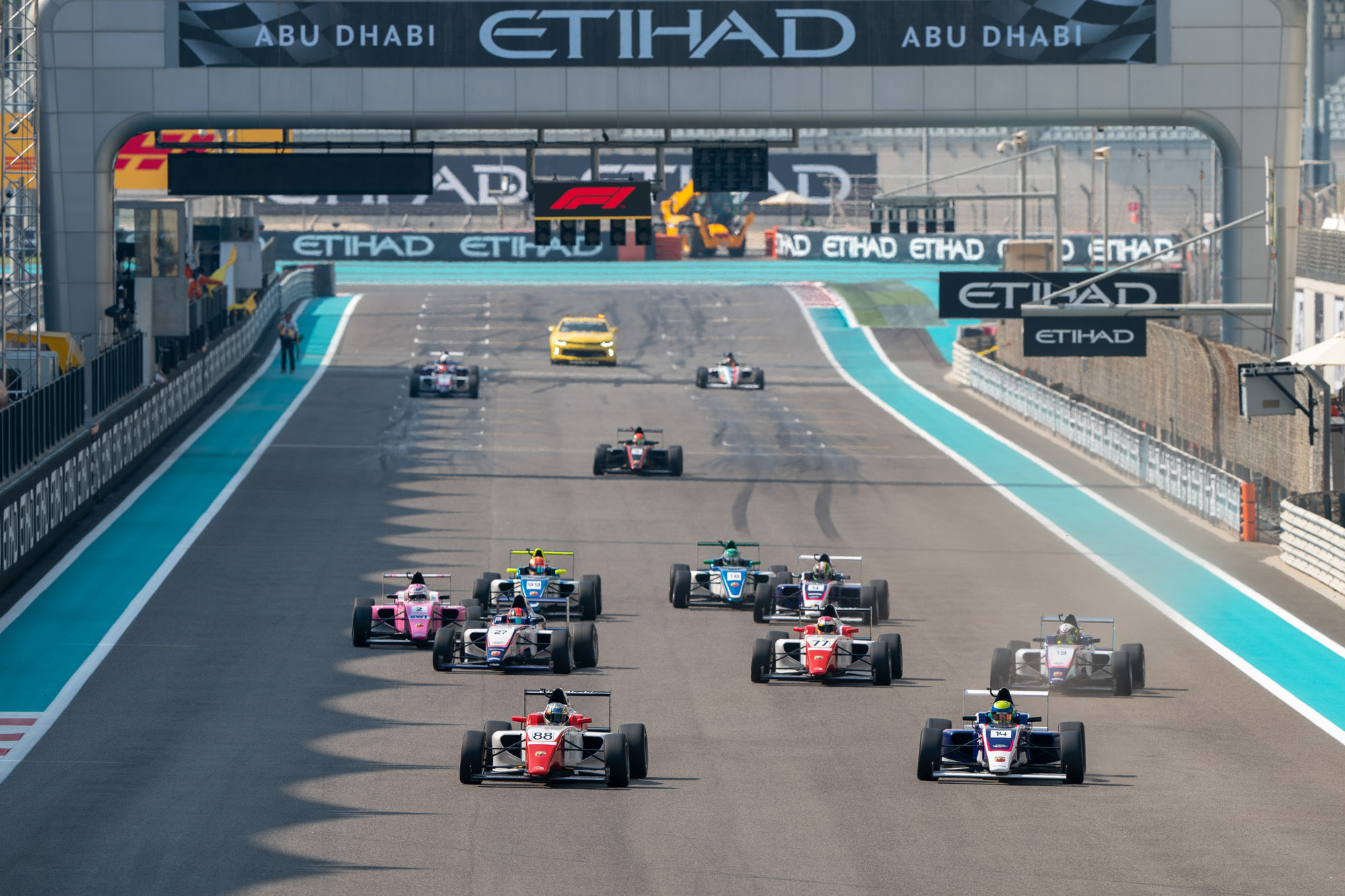 F4UAE Trophy Round Race 1 Start Credit David Benson