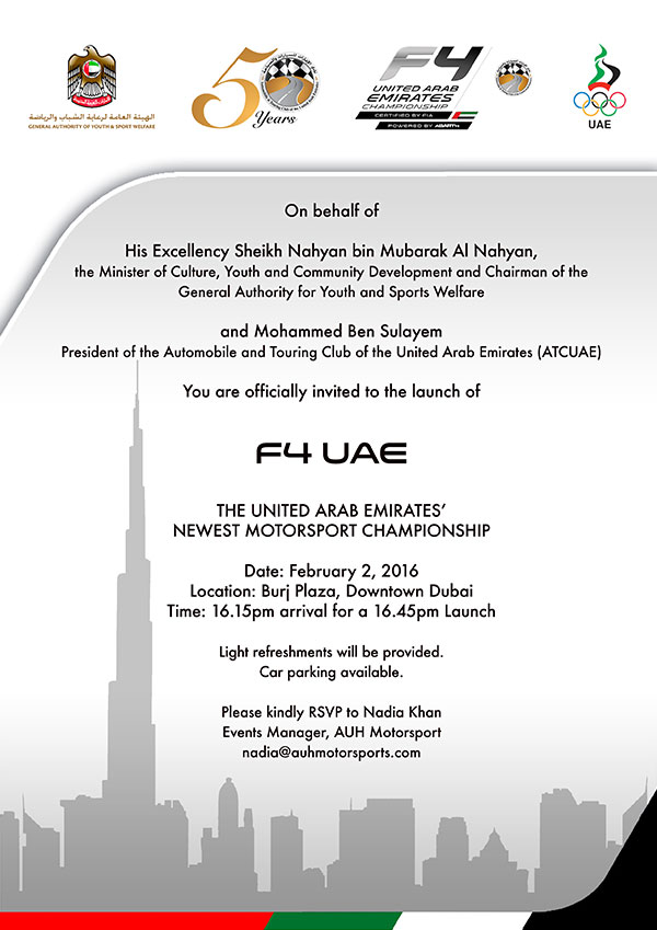 F4 UAE Official Launch